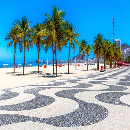 Orla da Praia de Copacabana, no Rio de Janeiro
