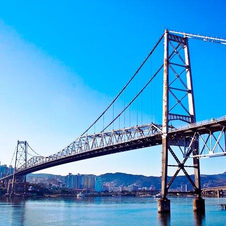 Ponte Hercílio Luz, em Santa Catarina