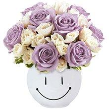 Sorridente Rosas Lilás