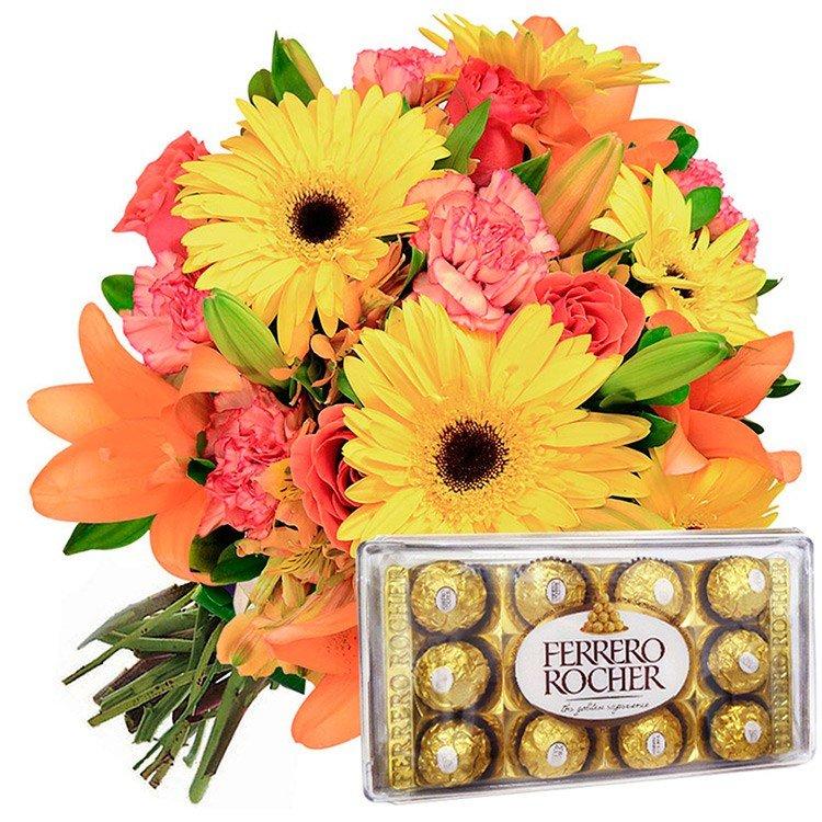 Buquê Flores do Campo  Ferrero Rocher
