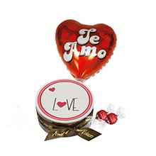 Bolo Love com Chocolate e Balão Te Amo