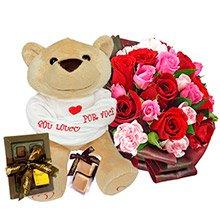 Buquê Valentine's, Pelúcia e Chocolates