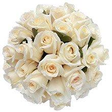 Buquê Soneto  36 Rosas Brancas