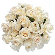 Buquê 24 Luxuosas Rosas Brancas