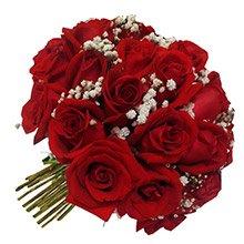 Buquê Tradicional Inspiração Vermelho 24 Rosas