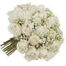 Buquê Tradicional Inspiração Branco 24 Rosas