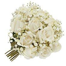 Mini Buquê Tradicional Inspiração Branco 12 Rosas