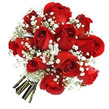 Mini Buquê Tradicional Inspiração Vermelho 12 Rosas