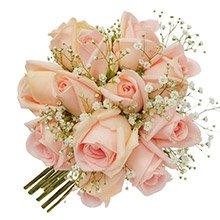 Mini Buquê Tradicional Inspiração Champanhe 12 Rosas