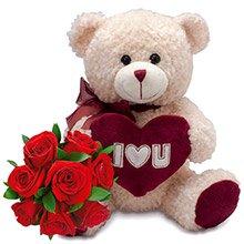 Rosas Vermelhas & Ursinho Love