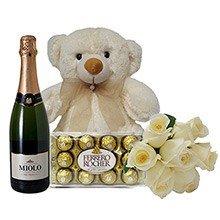Kit Especial com 6 Rosas Brancas