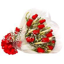 Buquê c/ 12 rosas Nacionais Vermelhas