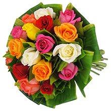 Buquê Simpatia de Rosas Colorido