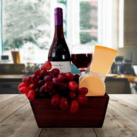 Cestas especiais com vinho