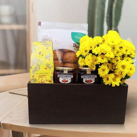 Cestas especiais com flores