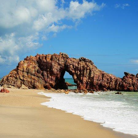 Praia de Jericoacoara, no Ceará