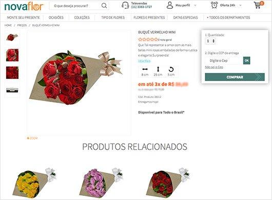 Informações da tela de produtos - Como Comprar