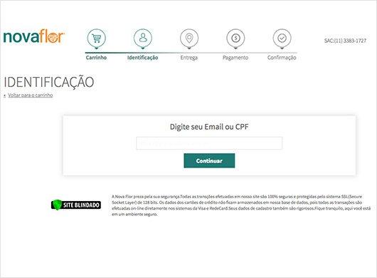 Tela de identificação de usuário - Como Comprar