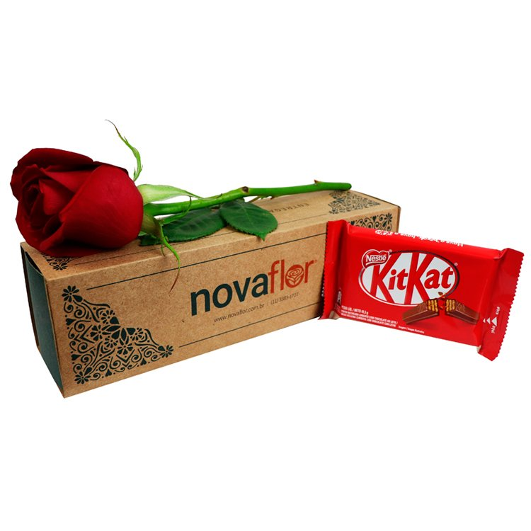 Exclusiva Rosa Vermelha e Kit Kat ao Leite