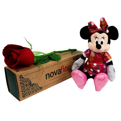 Exclusiva Rosa Vermelha e Minnie Mouse