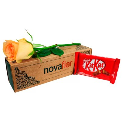 Exclusiva Rosa Champanhe e Kit Kat ao Leite