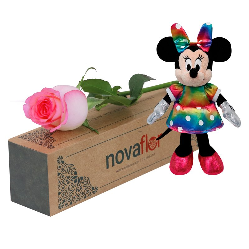 Exclusiva Rosa Cor de Rosa e Minnie Mouse