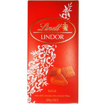 Tablete de Chocolate Lindor Milk 100g